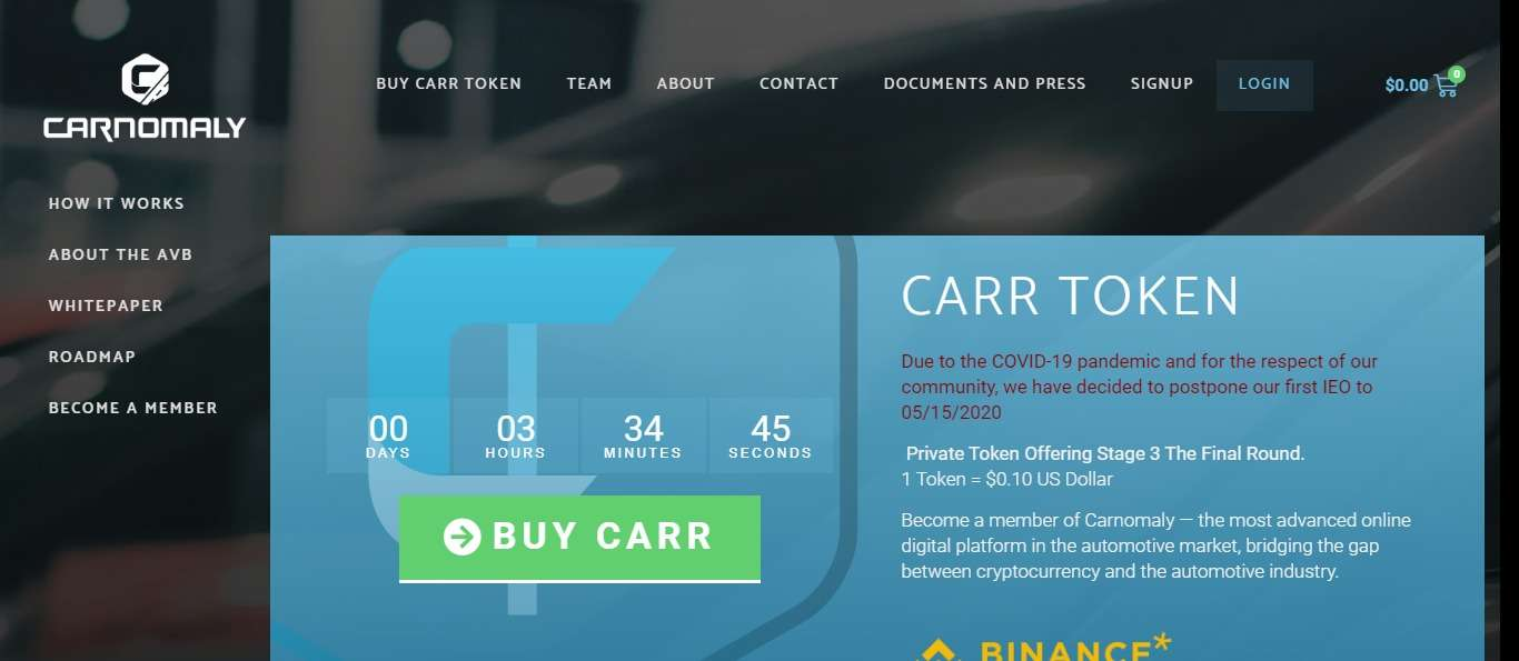 Carnomaly.io Ico Review - Online Automotive Marketplace