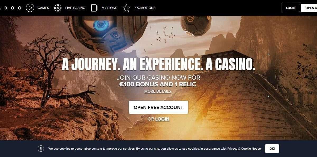 kaboo.com Casino Review : €100 Bonus And 1 Relic.