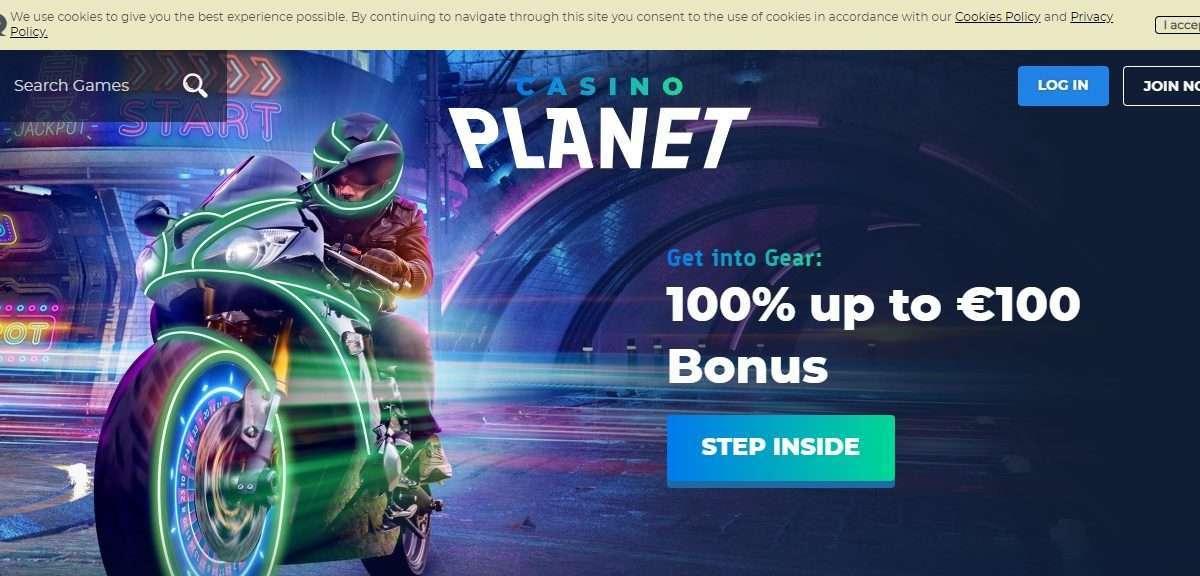 Casinoplanet.com Review - Earn 100% up to €100 Bonus