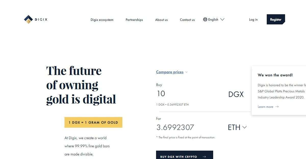 DigixDAO Ico Review: The Future of Owning Gold is Digital