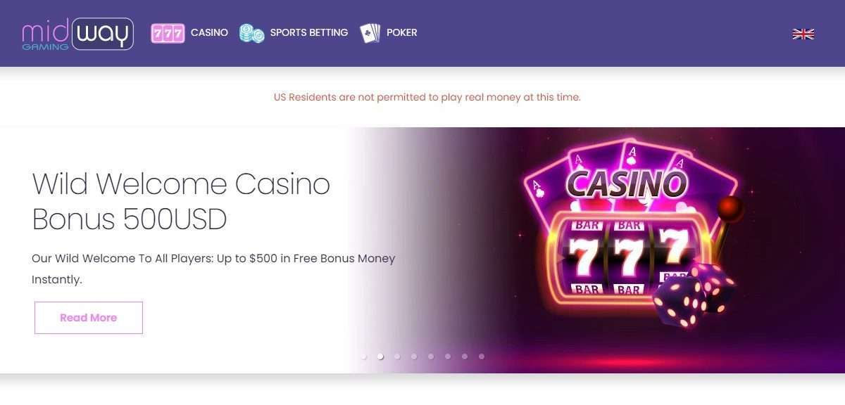 Midway Gaming Casino Review - Wid Welcome Bonus 500USD