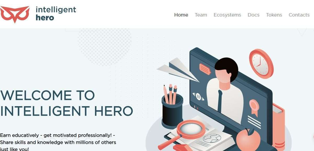 Intelligent-Hero Ico Reveiw : Earn Educatively - Get Motivated Professionally!
