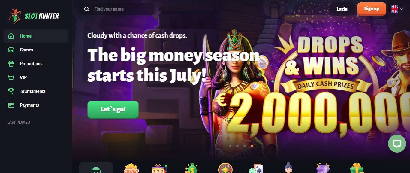 Slot Hunter Casino Review - Get Up To Euro 500 + 200 Free Spins