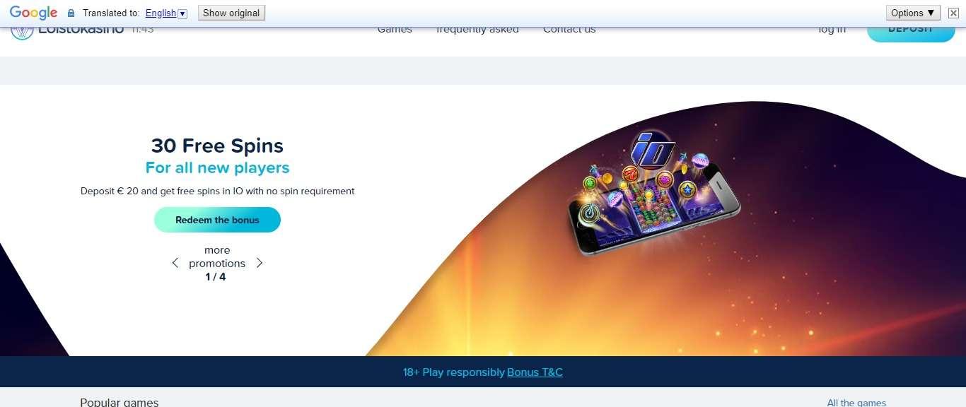 Loistokasino Casino Review - 30 Free Spins All New Player