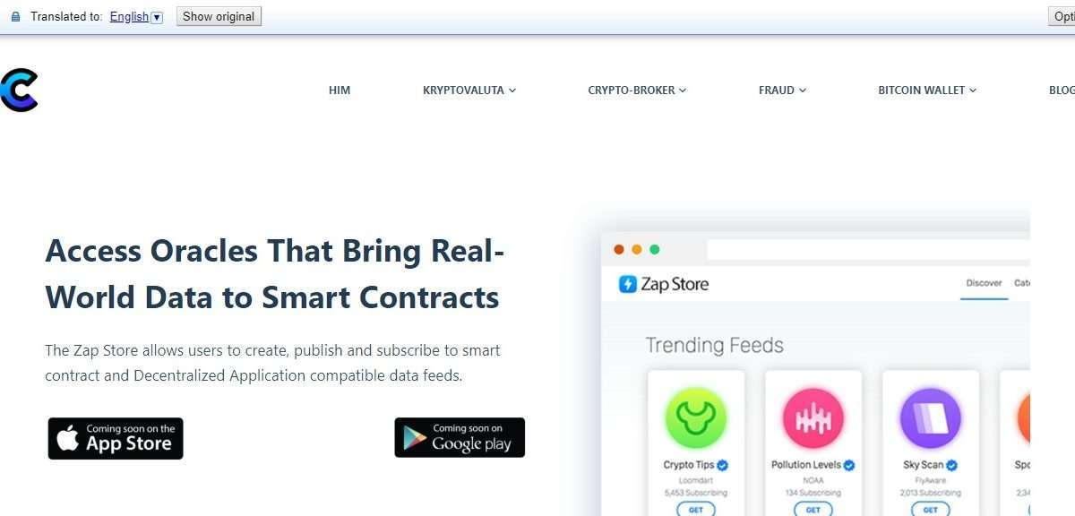 Zap Store Ico Review - World Data to Smart Contracts