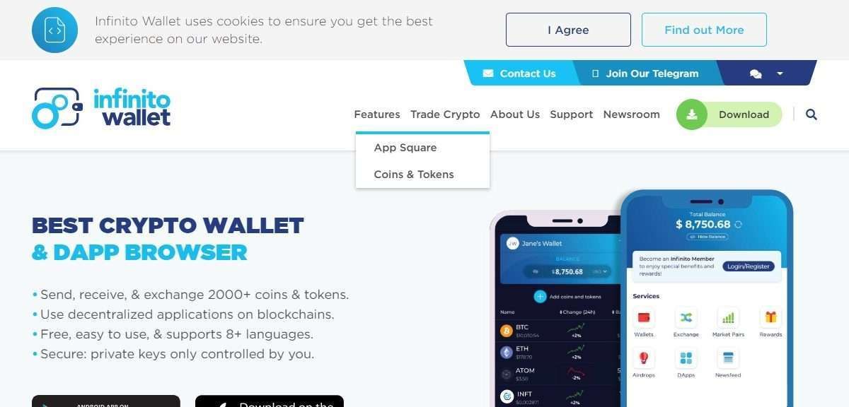 Infinito Wallet Review - Free, Easy to Use, & Supports 8+ Languages
