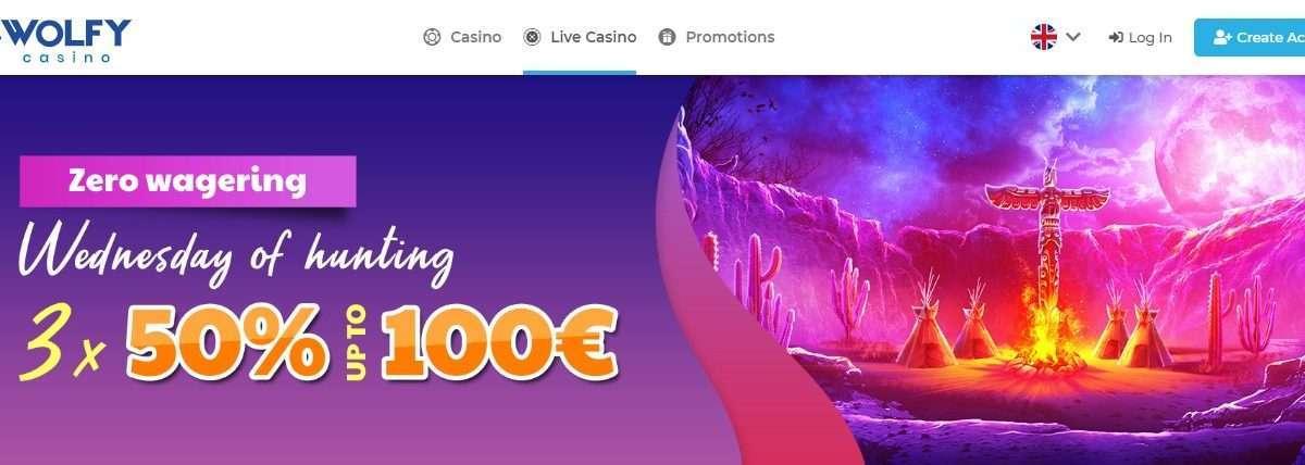 Wolfy Casino Review - Get Earn Welcome Bonus 1000 Euro