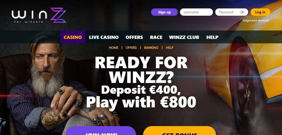 Winzz Casino Review - 100% Up To Euro /$ Free Spins