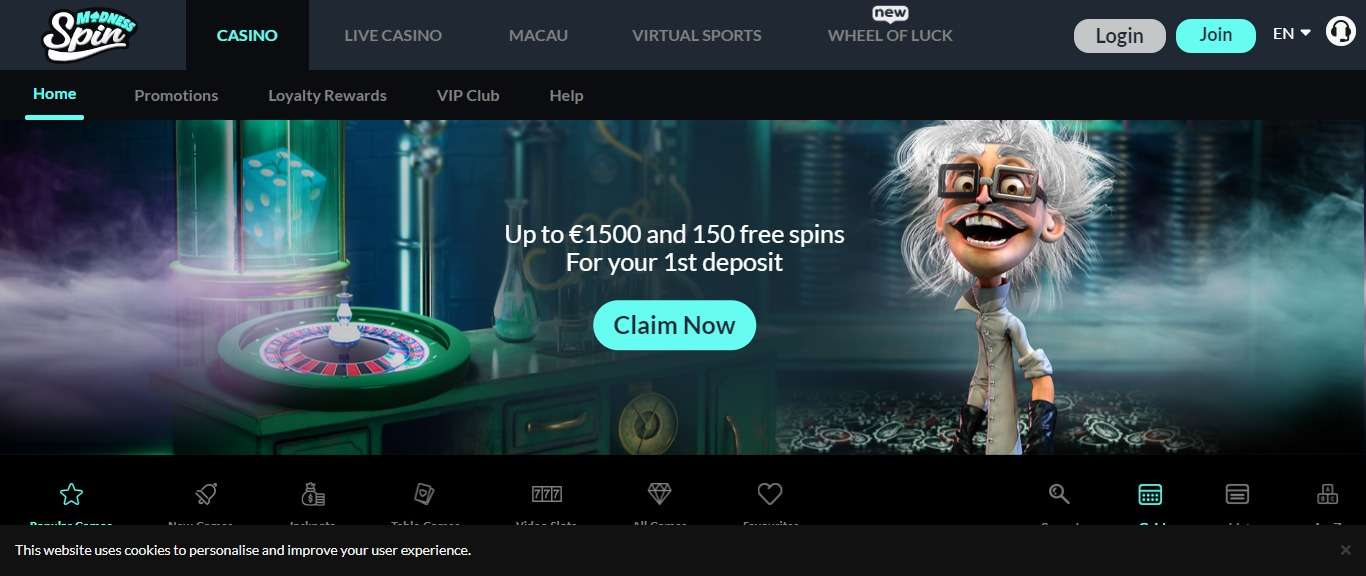 Spin Madness Casino Review - Clean Bonuses for The Smart Player