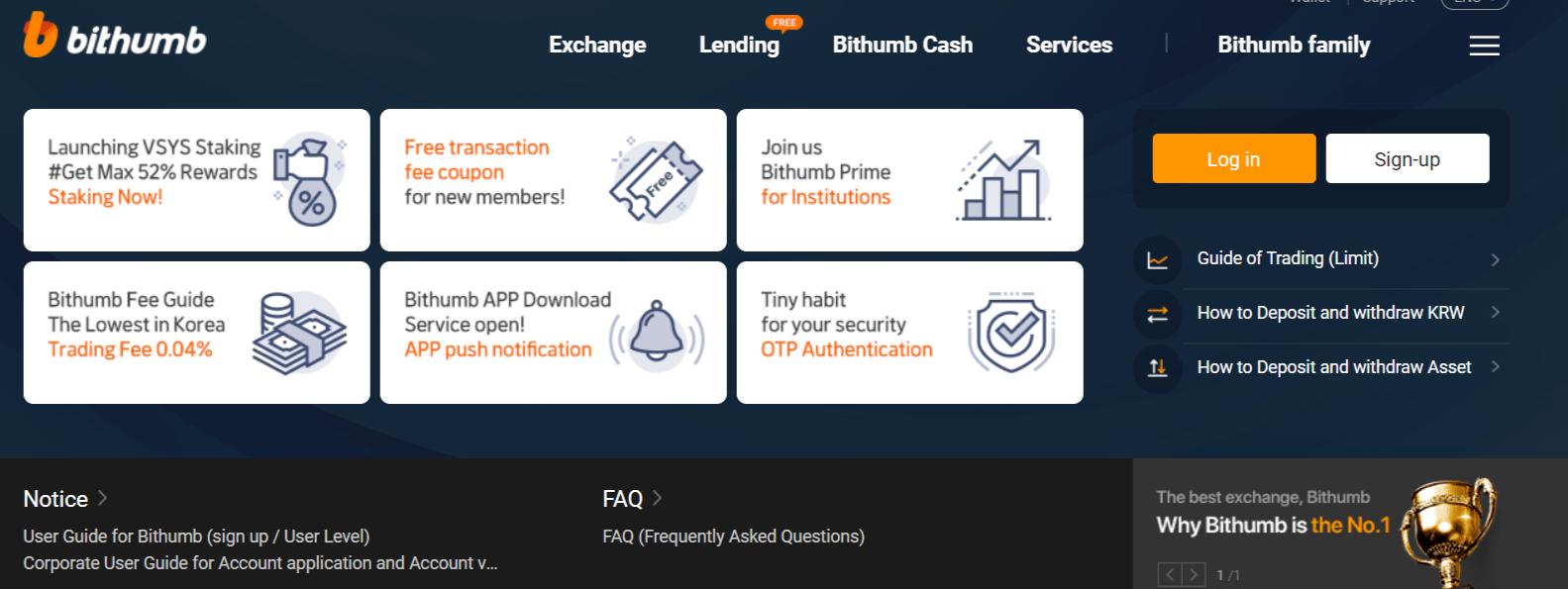 Bithumb Cryptocurrency Exchange Review - No.1 Digital Asset Platform
