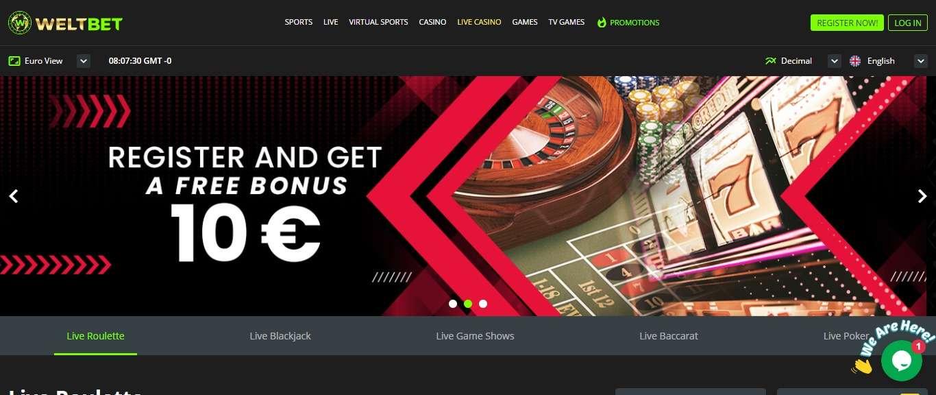 Weltbet Casino Review - Register And Get A Free Bonus 10 Euro