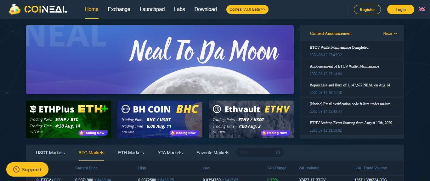 Coineal Cryptocurrency Exchange Review - A Global Reliable Crypto Trading Platform