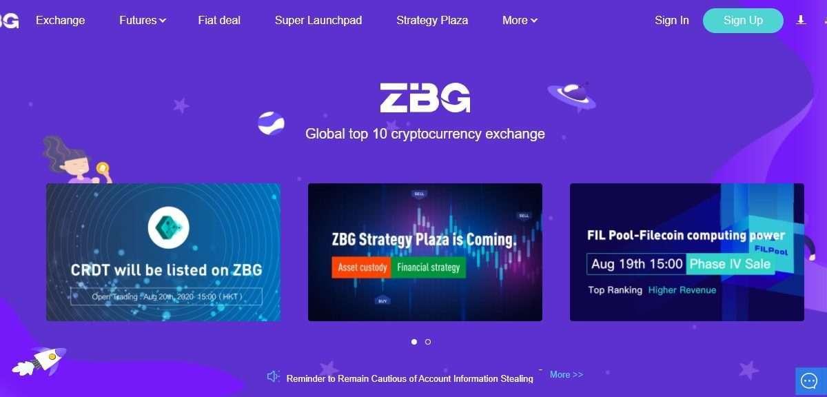 Zbg Cryptocurrency Exchange - Global Top 10 Cryptocurrency Exchange