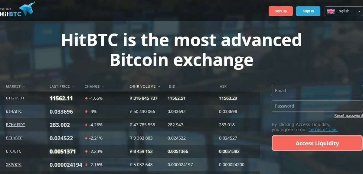 HitBTC Cryptocurrency Exchange Review - HitBTC is the Most Advanced Bitcoin exchange