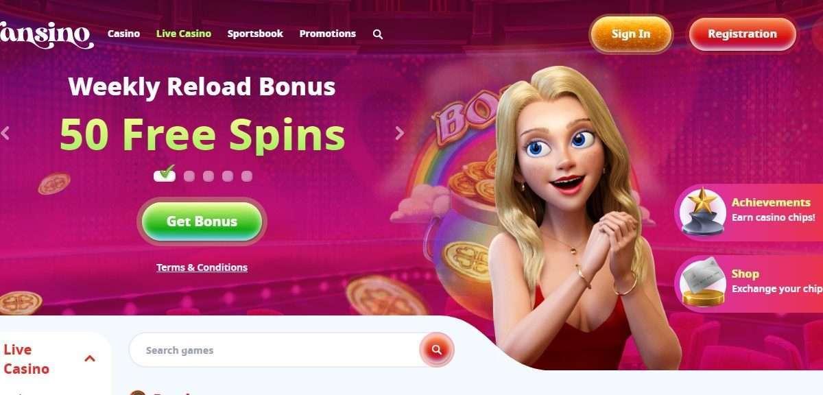 Gransino Casino Review - 100% Bonus on your first Deposit
