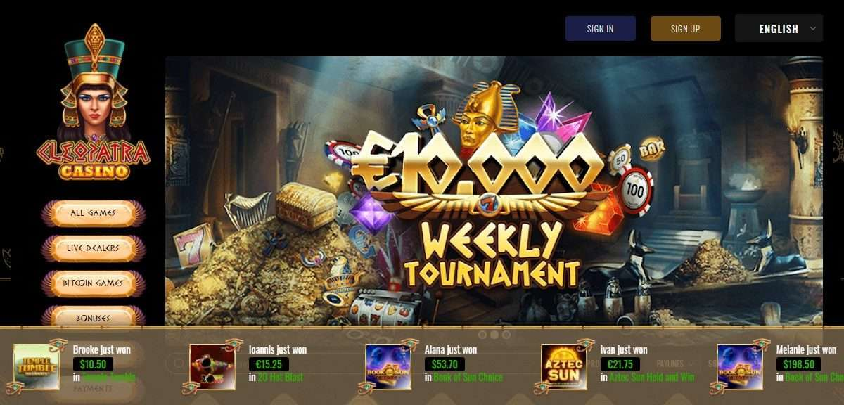 Cleopatra Casino Review - 4,000 Thrilling Online Casino Games