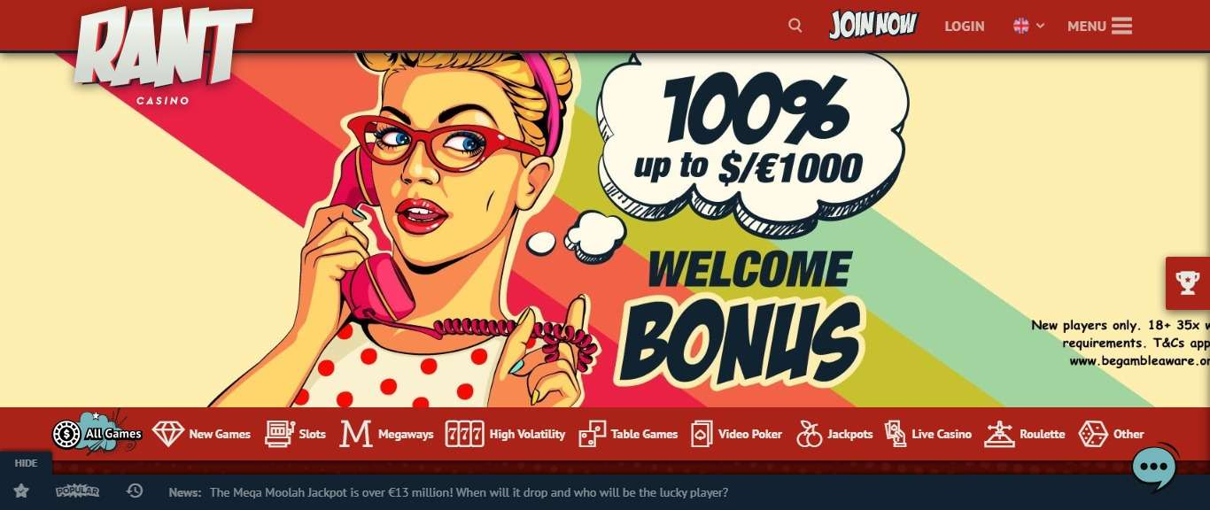 Rant Casino Review - Receive Up To 25% Cashback Each Month