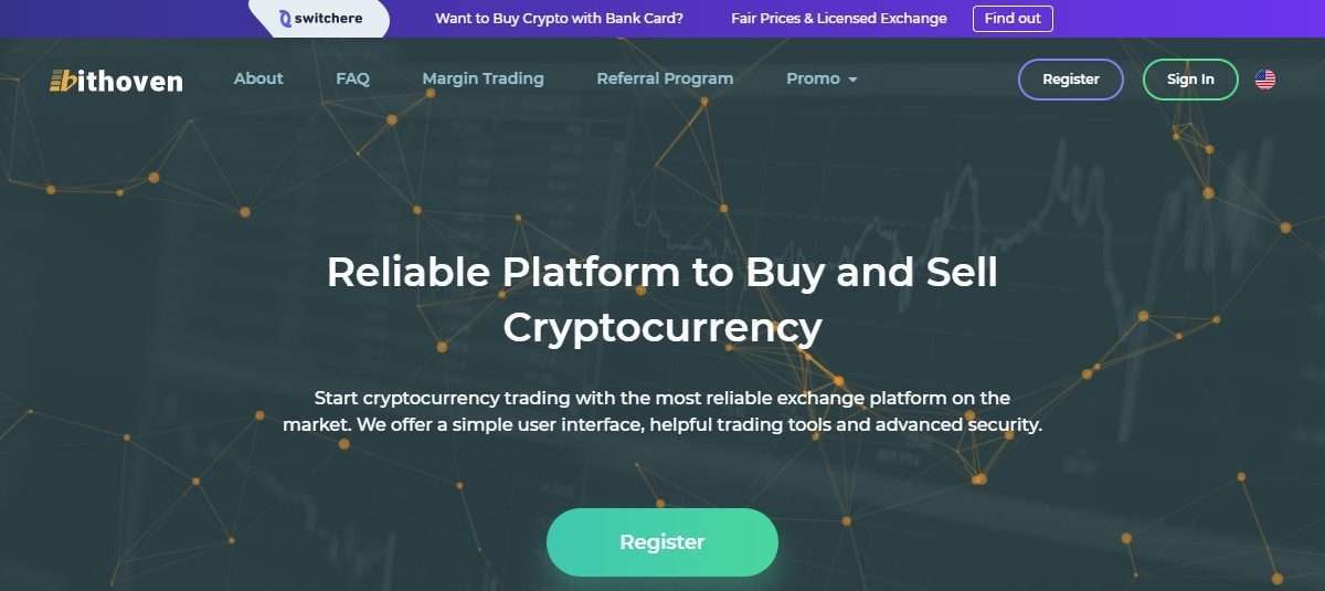 Bithoven Cryptocurrency Exchange Review - Reliable Platform To buy $ Sell Cryptocurrency