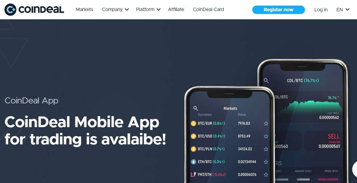 Coindeal Cryptocurrency Exchange Review - CoinDeal Mobile App for Trading is Avalaibe!