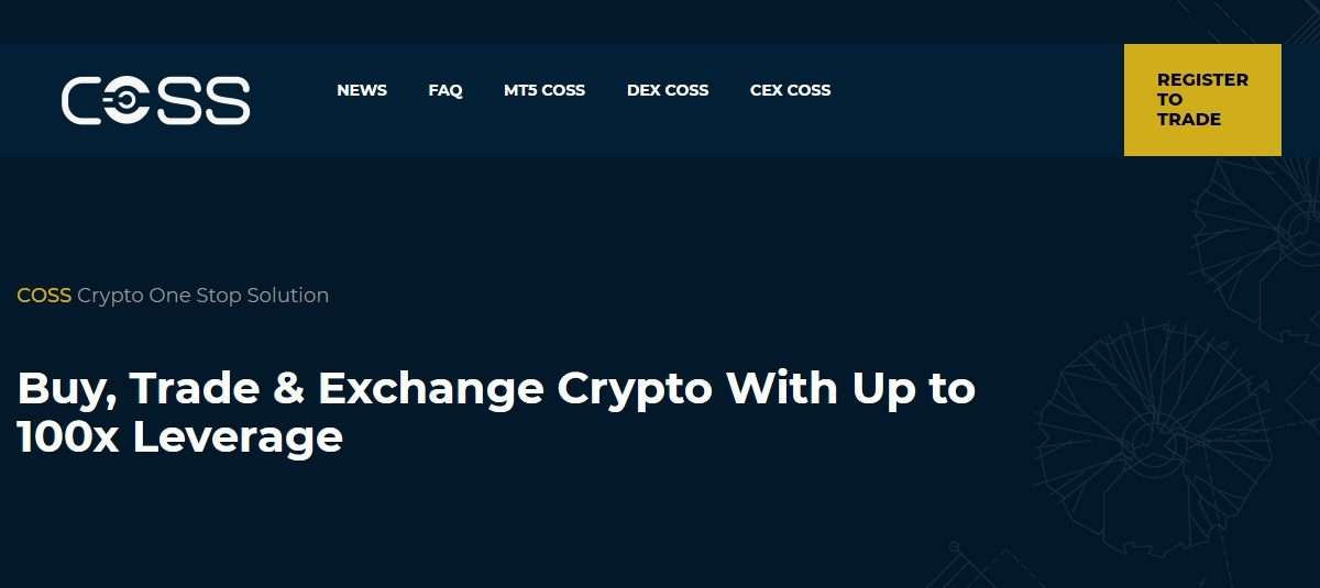 Coss Cryptocurrency Exchange Review - Buy, Trade & Exchange Crypto With Up to 100x Leverage