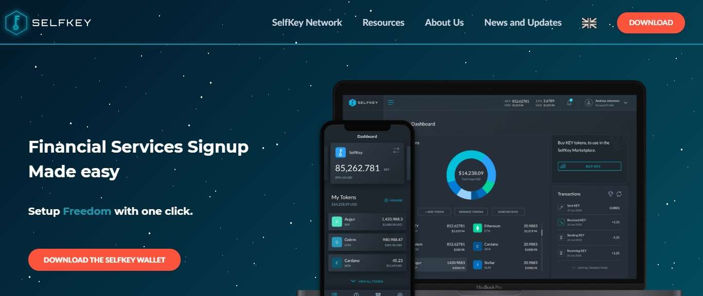 Selfkey Wallet Review - Financial Services Signup Made easy