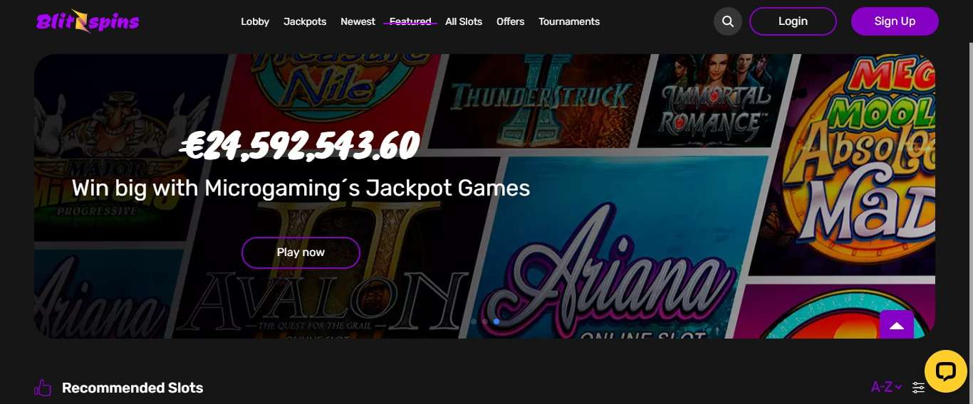 Blitzspins Casino Review - 200% Up To 50 Euro On Your First Deposit