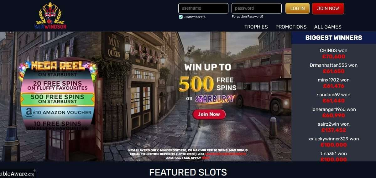 WinWindsor Casino Review - Win up to 500% Free Spins