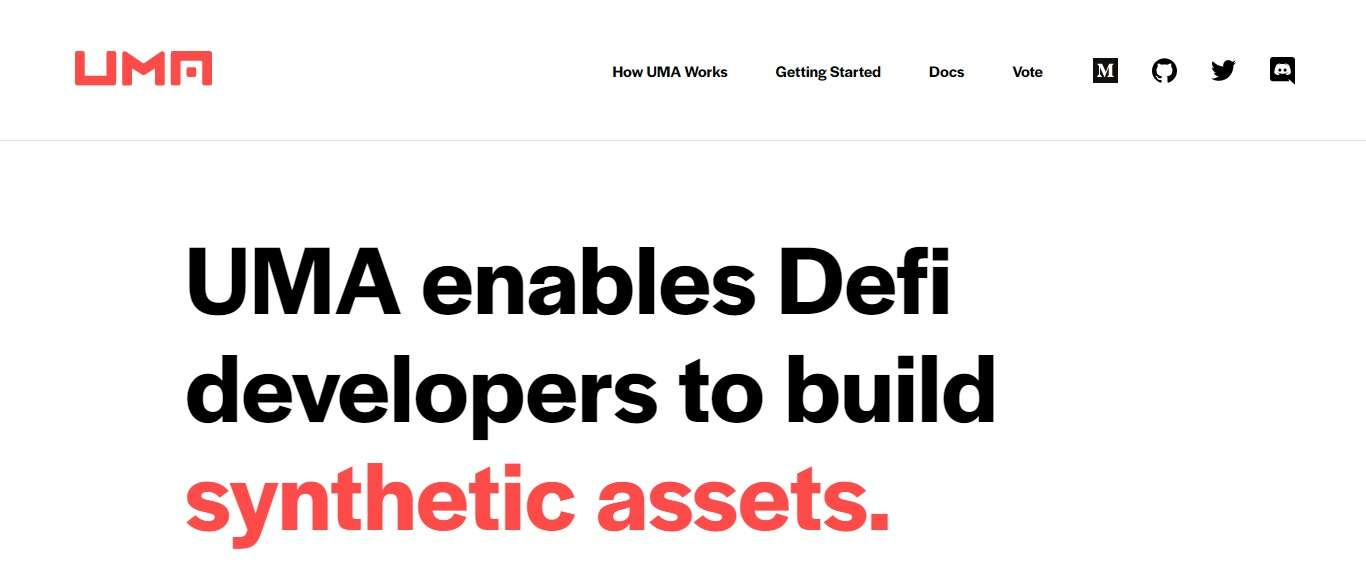UMA Project (UMA) Enables Defi Developers to Build Synthetic Assets