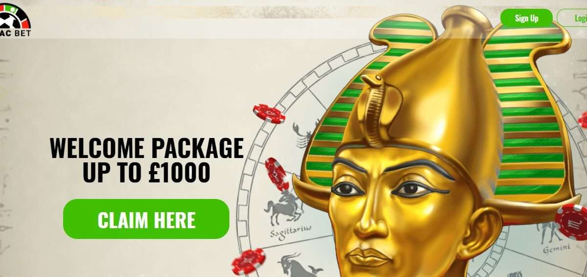 Zodiacbet Casino Review - First Deposit - 125% up to £125