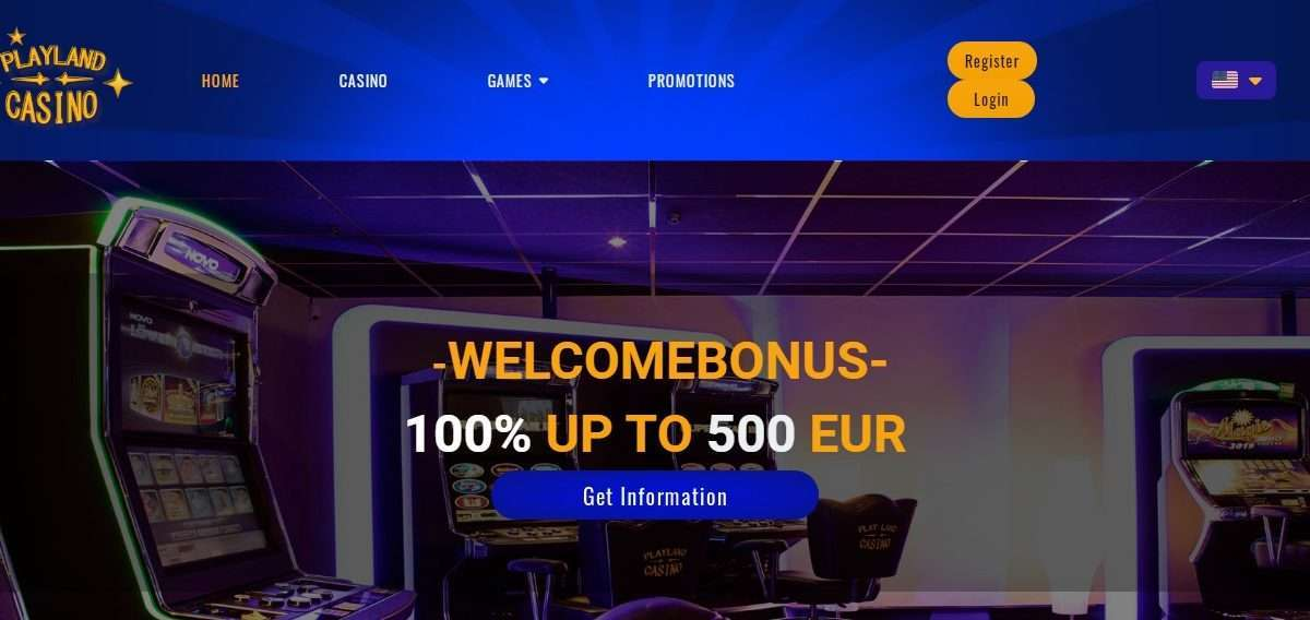 Playland Casino Review - Welcome Bonus 100% up To 500 Euro