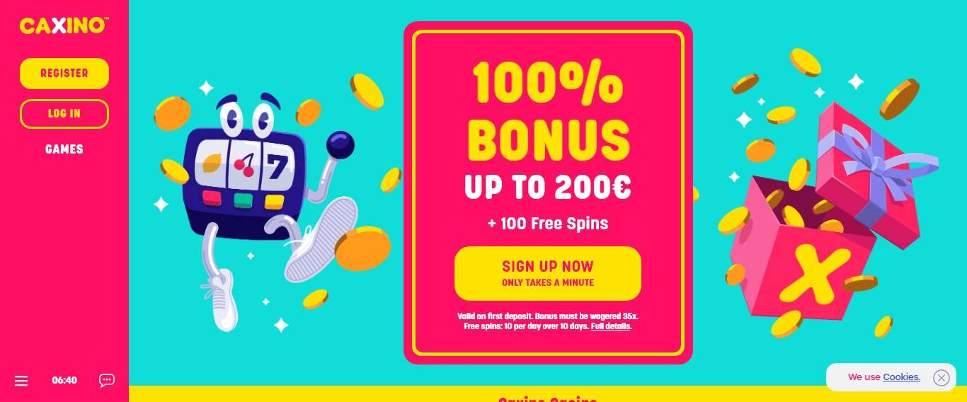 Caxino Casino Review - 100% Match Deposit Bonus + 100 Free Spins