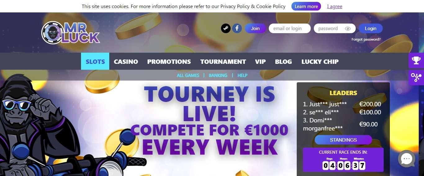 MrLuck Casino Review - 500% Bonus on Your First Deposit