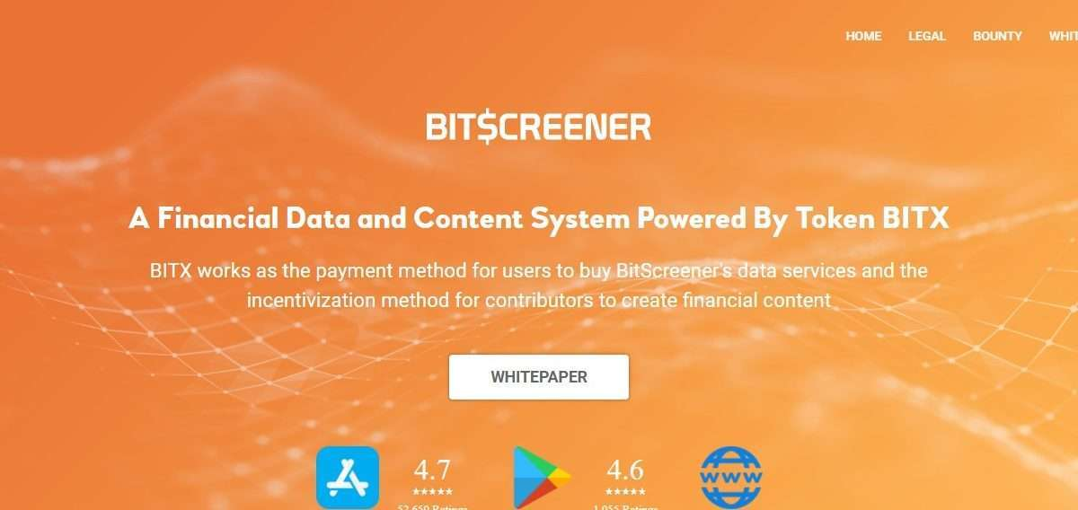 Bitscreener Ico Review : A Financial Data and Content System