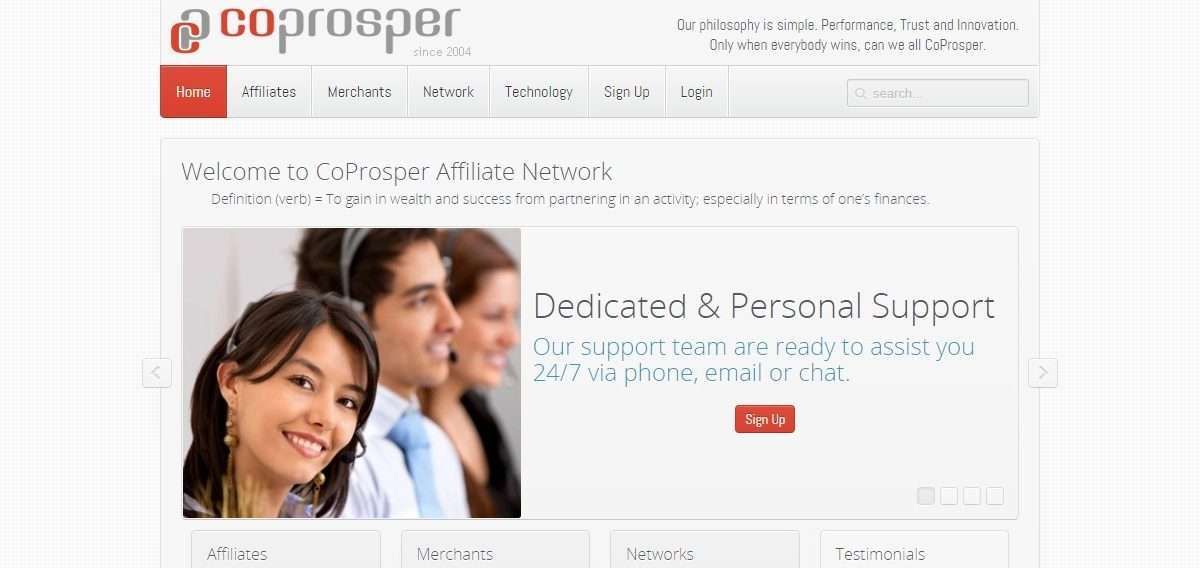 CoProsper Affiliate Network Review: Dedicated & Personal Support