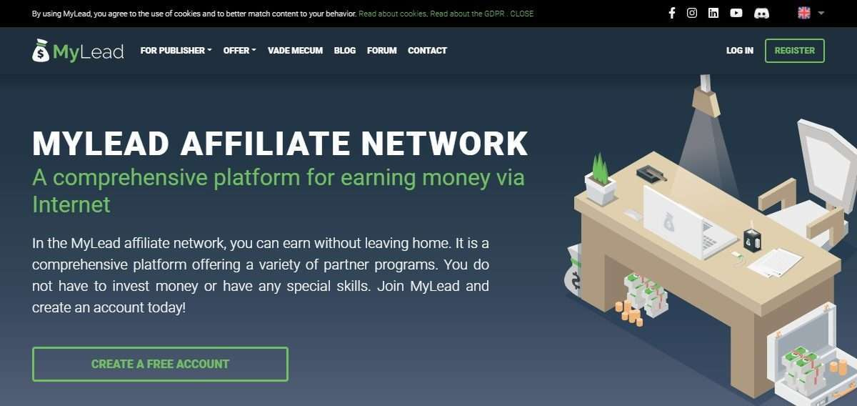 MyLead Affiliates Network Review : You Can Earn without Leaving Home