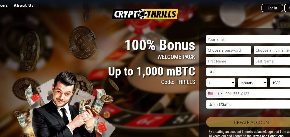 Cryptothrills.io Airdrop Review: You will get 3 mBTC.