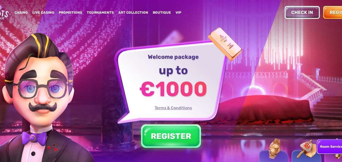 SlotsPalace Casino Review: Welcome package Up to 1000 Euro