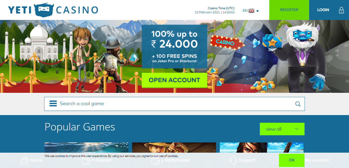 Yeti Casino Review : Gambling on Your Mobile Phone