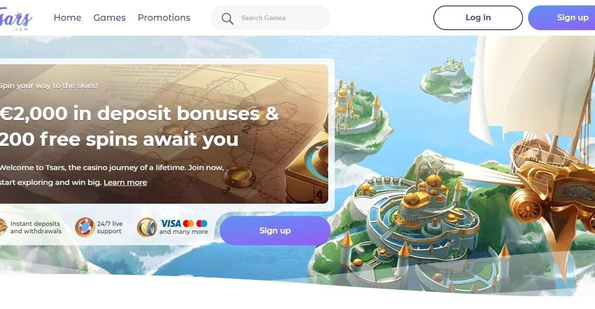 Tsars Casino Review : €2,000 in Deposit Bonuses & 200 Free Spins Await You