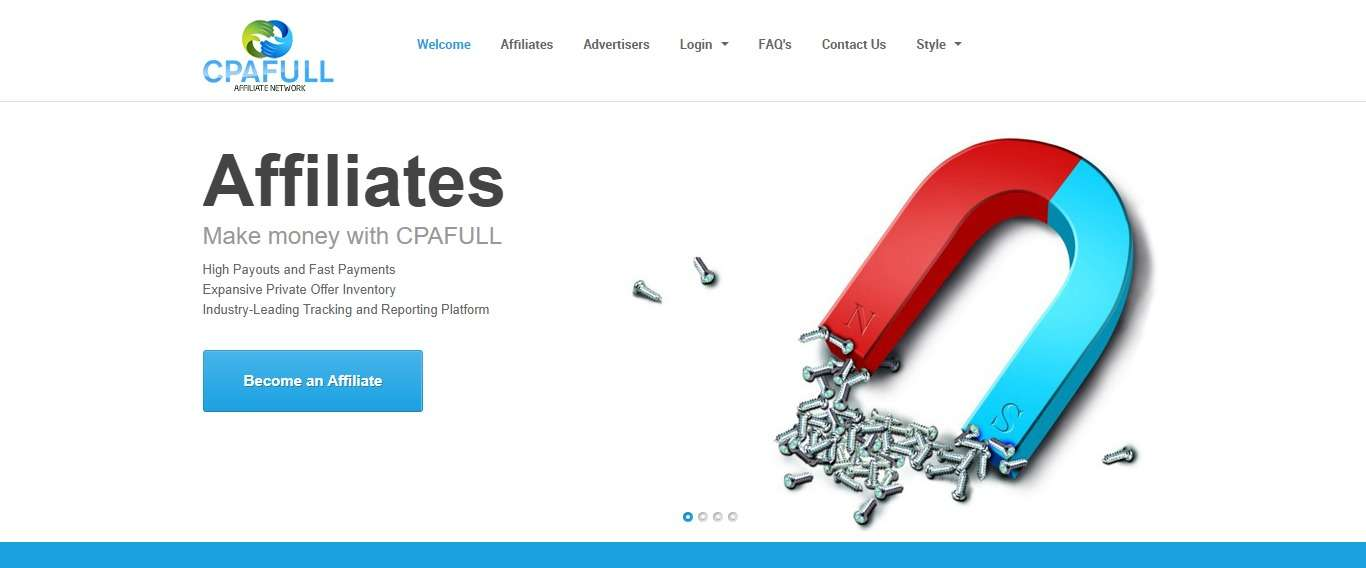 Cpafull Affiliates Network Review : All Types of Platforms & Verticals Available!
