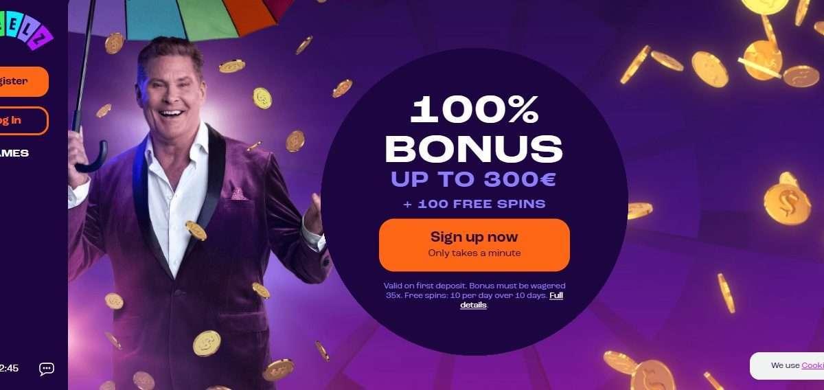 Wheelz Casino Review : 100% Bonus Up to 300 Euro + 100 Free Spins