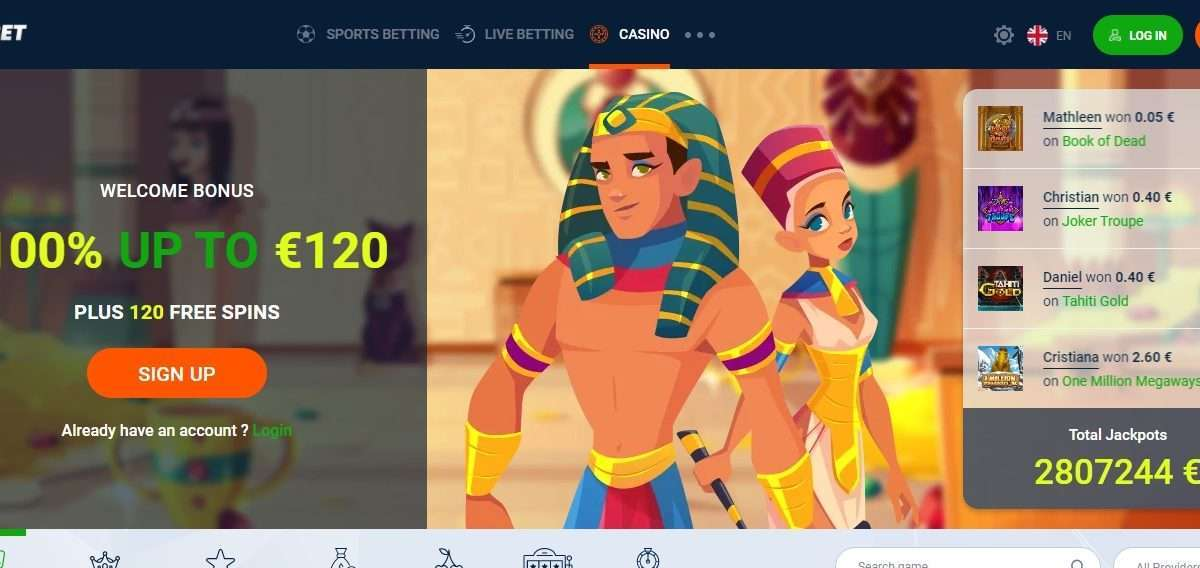 20bet Casino Review - Profit Earn 100% UP TO €120