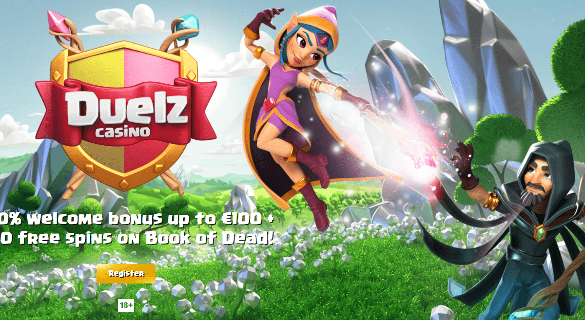 Duelz Casino Review : 100% Welcome Bonus Up To €100 + 200 free spins on Book of Dead!