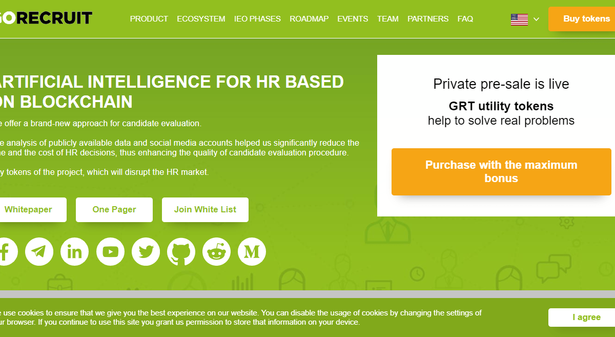 GoRecruit ICO Review : AI for HR Based on Blockchain