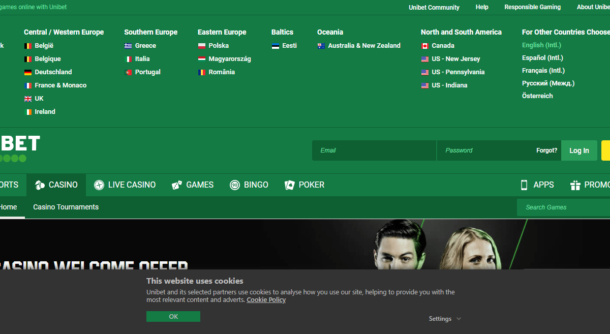 Unibet Casino Review : Make a First Deposit of €100 and Play with €200!