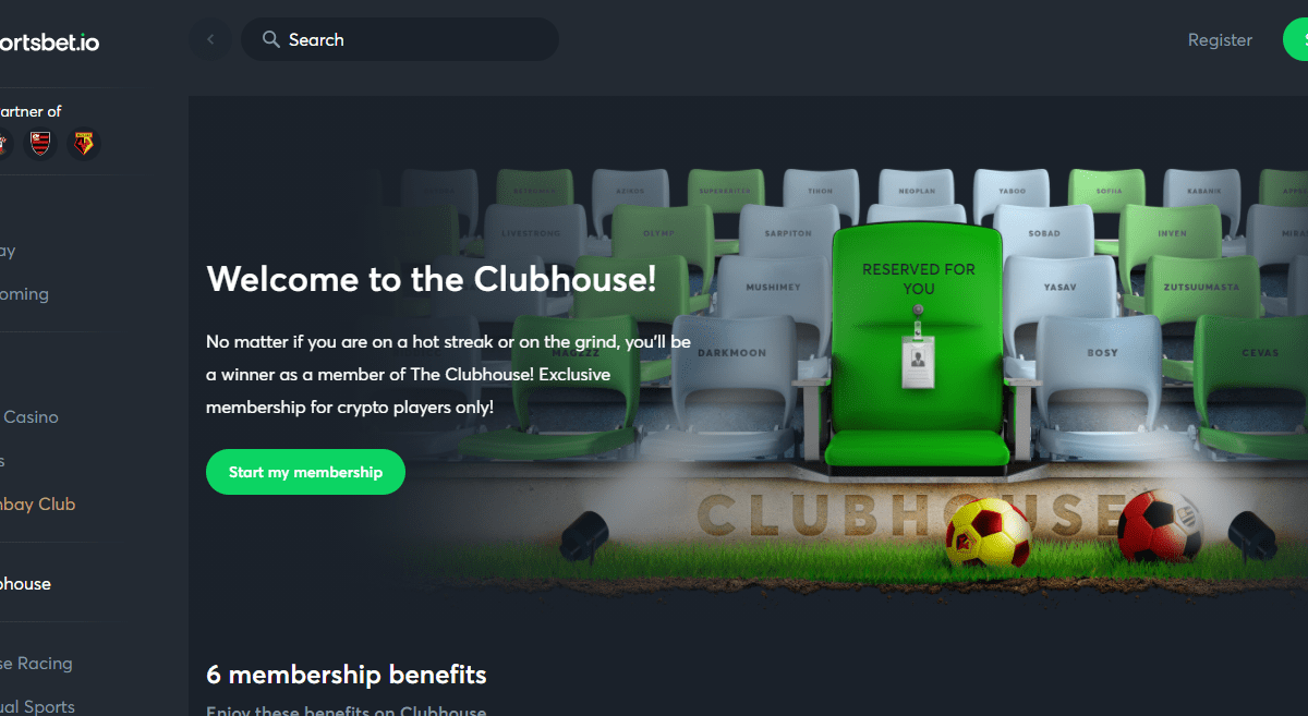 Sportsbet.io Casino Review : Welcome to the Clubhouse!