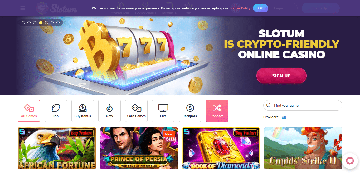 Slotum Casino Review : Maximum bet for Clearing up the Bonus 5 Eur USd 10 CAD,10 AUD,