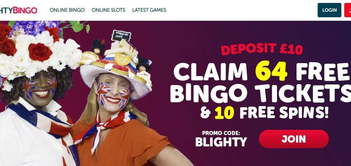 Blighty Bingo Casino Review - Claim 64 Free Bingo Tickets & 10 Free Spins!