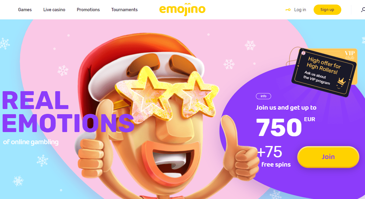 Emojino Casino Review : Join and Get Up to 750 EUR