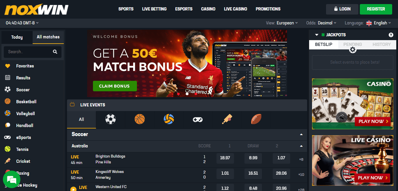 Noxwin Casino Review : Play Your Favorite Games